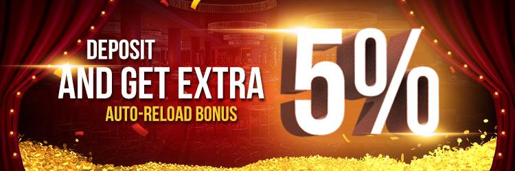 5% Extra Deposit Bonus