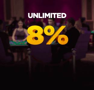 8% Unlimited Deposit Bonus