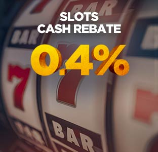 0.4% Weekly Slots Cash Rebate