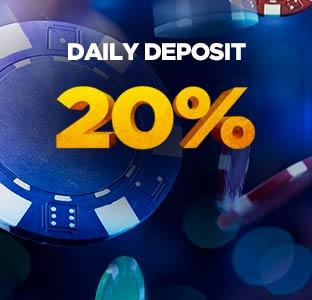 20%每日存款奖金高达588令吉
