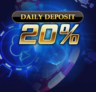 20% Daily Deposit Bonus