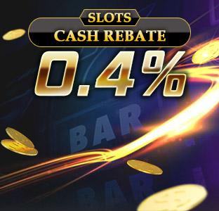 0.4% Weekly Slots Cash Rebate