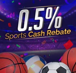 0.5% Sport Weekly Rebate