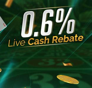 0.6% Weekly Live Cash Rebate