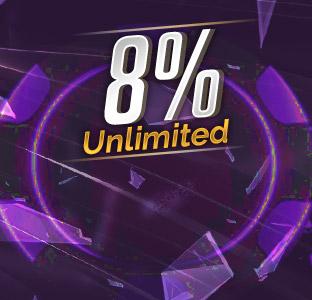 8% Unlimited Deposit Bonus