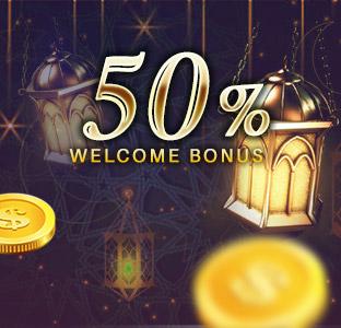 50% Welcome Bonus