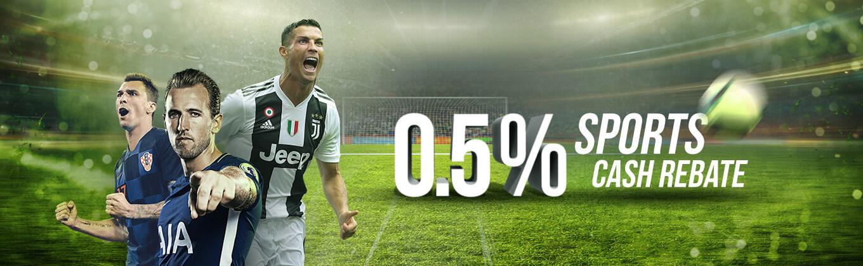 0.5% sports rebate